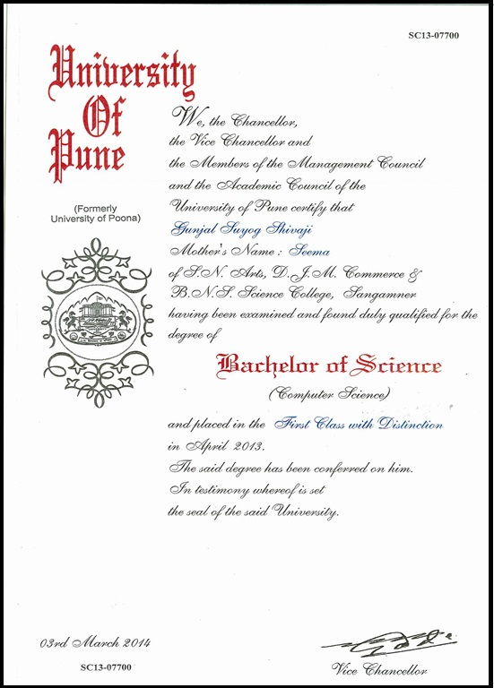 Pune university degree certificate sample gallery certificate pune university degree certificate sample thank you for visiting yadclub nowadays were excited to declare that we have discovered an incredibly yadclub Choice Image